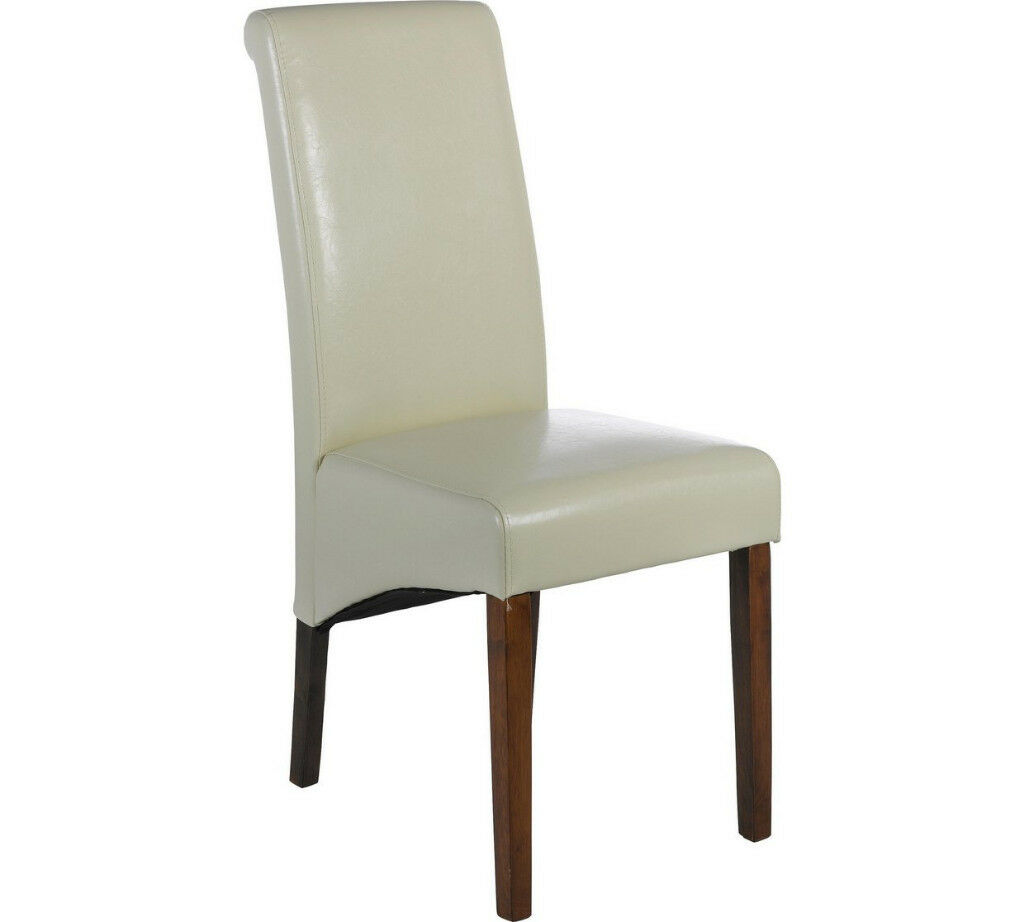 Heart of House Melford Pair of Cream Leather Effect Chairs