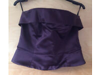 2 piece strapless evening/party dress size 10