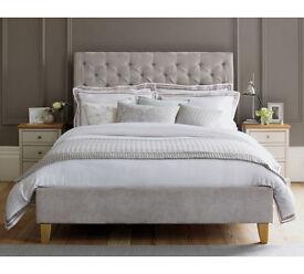 Schreiber Portisham Upholstered Double Bedframe - Grey
