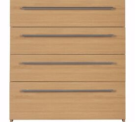 Ex-display Atlas 4 Drawer Chest - Oak Effect