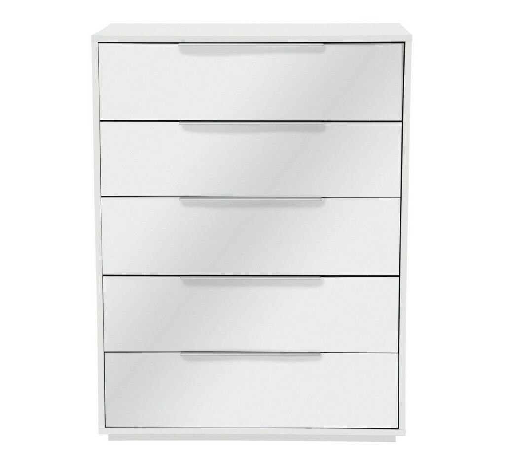 Hygena Bergen 5 Drawer Chest - Mirror