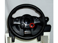 Logitech Driving Force GT Steering Wheel (PS2, PS3, and PC)