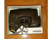 """NEW UNUSED """"ANIMAL"""" leather purse"""