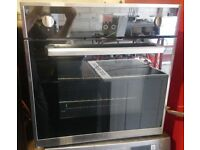 UBMF60SS Fan Assisted Single Electric Built In Oven In Black / Stainless Steel