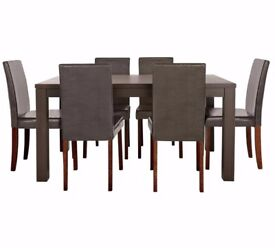 HOME Pemberton Oak Veneer Dining Table & 6 Chairs