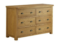 Heart of House Kent 3 + 3 Drawer Chest