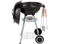 Fantastic BBQ Starter Pack! Steel BBQ, high quality utensils AND small bag of coal. RRP £42