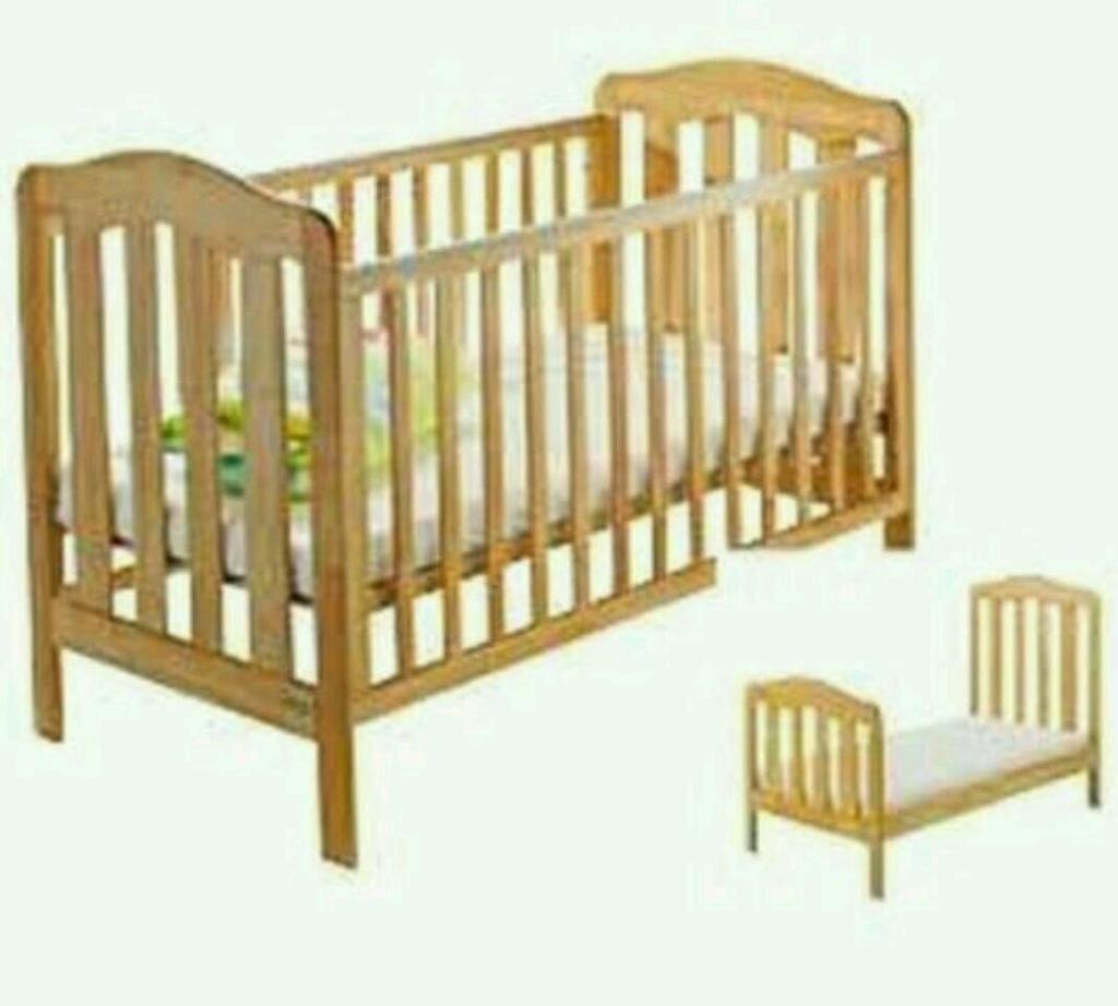 Mamas And Papas Eloise Natural Wooden Cot Bed Junior Bed