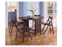 HOME Butterfly Oval Dining Table and 4 Chairs - Chocolate 298.