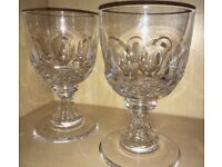 Pair William Yeoward Bonnie Large Goblets - Hand Made Crystal