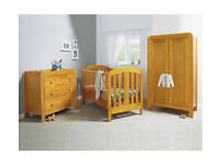 Mamas & Papas 3 Piece Nursery Furniture Set Cot bed, dresser and wardrobe