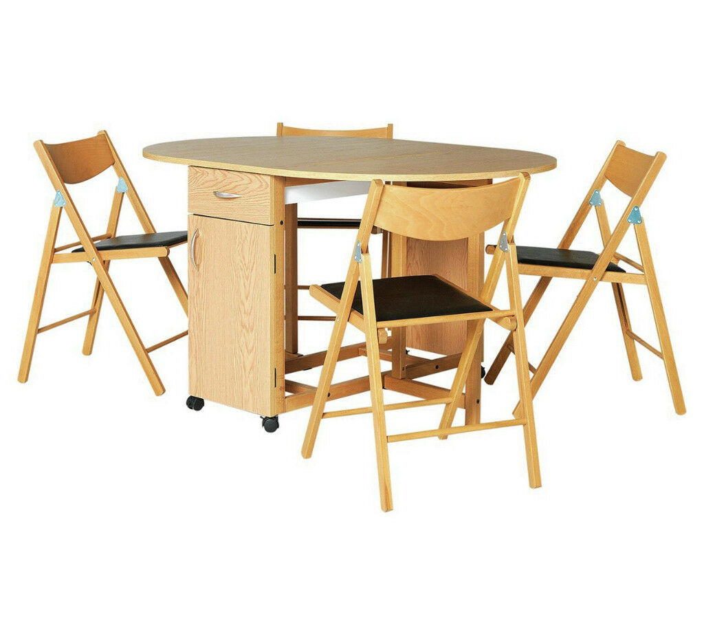 Collection Willow Dining Table and 4 Chairs-Oak Stain