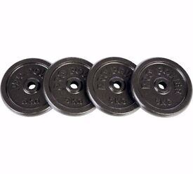 Cast Iron Weight Plates - 4 x 5kg NEW