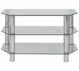 Glass TV/DVD stand, perfect condition