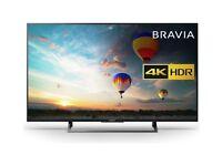"""Sony Bravia 49"""" LED Smart TV 4K UHD HDR 2018 Model"""