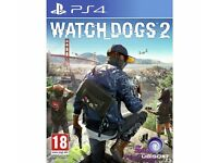 WATCHDOGS 2 GAMES SEALED