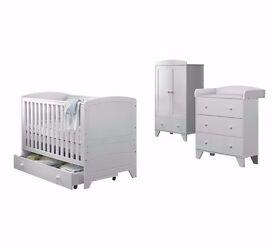 Ex display BabyStart Oxford White Furniture Set