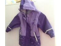 Nearly New Lupilu jacket for 1-2 years old girl