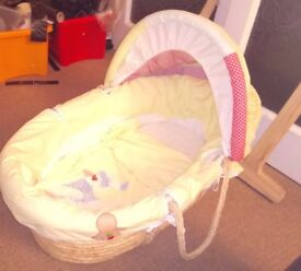 Quality Moses Basket with Rocker