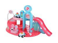 Pink toy Garage