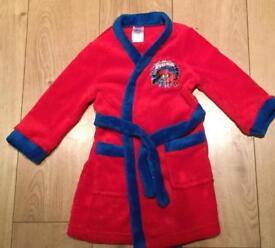 Spider man dressing gown age 2-3 years