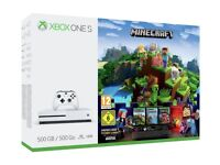 Xbox one S 500GB Minecraft Edition (Boxed)