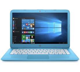 HP Stream 14 Inch Intel Celeron 4GB 32GB Laptop - Blue