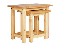 San Diego Nest of 2 Tables - Solid Pine