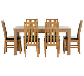 HOME Hemsley Extendable Dining Table and 6 Paris Chairs