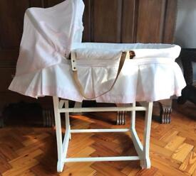 Emile et Rose Moses Basket with rocking stand
