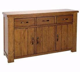 Ex-display Arizona 3 Door 3 Drawer Sideboard - Solid Pine