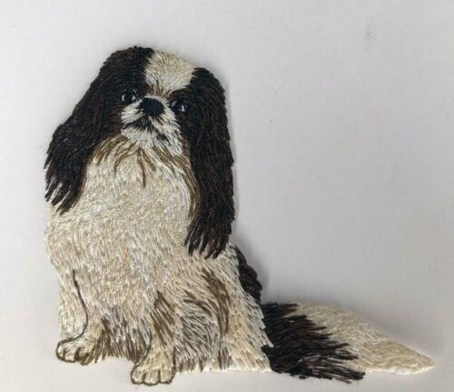Japanese Chin Dog Breed Embroidered DOG ANIMAL IRON ON Patch