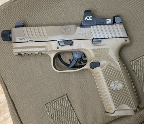 ADE RD3-006B1 GREEN Dot Reflex Sight for FN 509 Tactical Optics Ready Pistol red