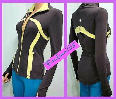 LULULEMON COAL AND CITRON DEFINE Jacket, Size 4  #L215