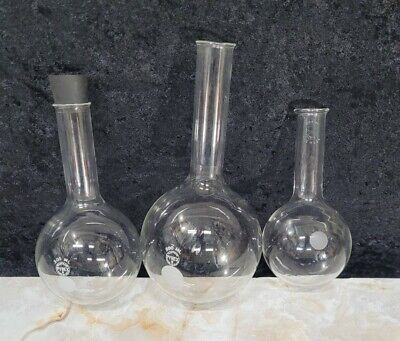 Round Bottom Glass Flask Pyrex 500 300 200 Ml Laboratory Chemistry Vessel