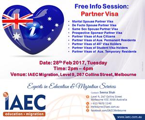 Free Partner Visa Info Session Melbourne CBD Melbourne City Preview