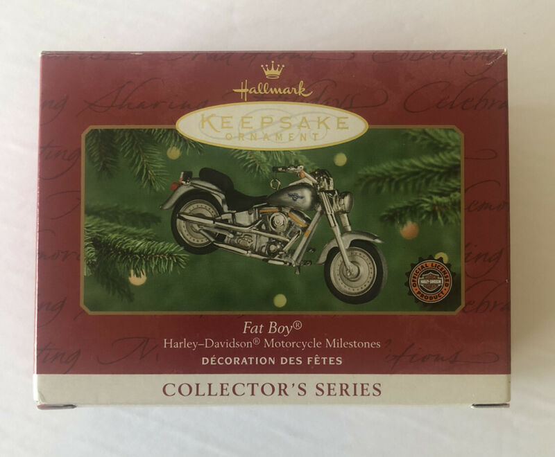 HALLMARK HARLEY-DAVIDSON 2000 FAT BOY MOTORCYCLE CHRISTMAS ORNAMENT