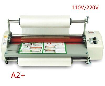 17.5 A2 Roll Laminator Four Roller Hot Cold Laminating Machine For 442mm Paper