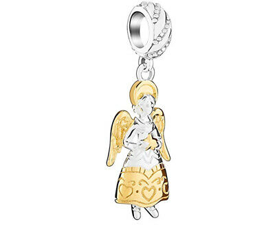 CHAMILIA Sterling Silver Gold Plated Angel Charm ~ NEW in Pouch ~ 2010-3341 ()