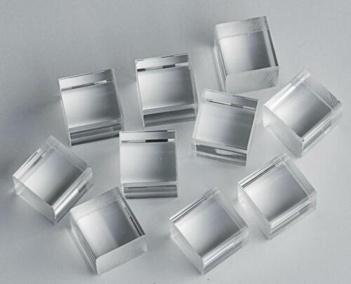 "10 PCs 1"" x 1"" x 1"" SQUARE CLEAR ACRYLIC Plexiglass Lucite ROD CUBES PEGS 1 Inch"