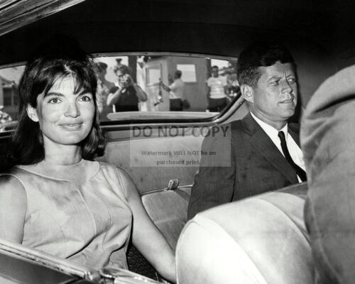 PRESIDENT JOHN F. KENNEDY & FIRST LADY JACQUELINE IN 1963 - 8X10 PHOTO (OP-710)
