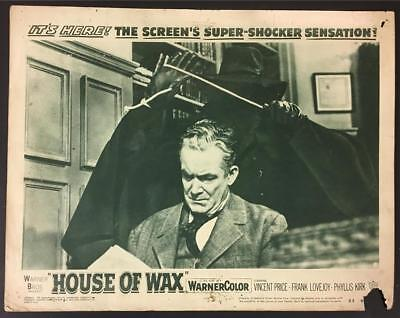 strangler about to attack Roy Roberts House of Wax 1953 # 5 2D lobby card 803