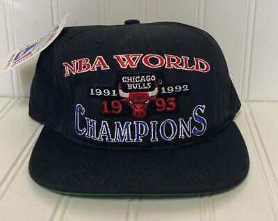 W/ Tags Vintage Starter Chicago Bulls 1993 NBA World Champion Hat Snapback