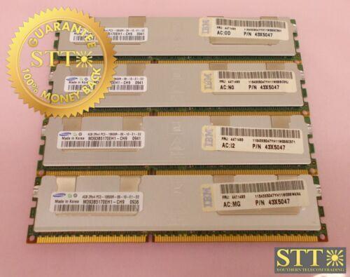 M393b5170eh1-ch9 Samsung 4gb 2rx4 Pc3-10600r Ecc Rdimm Memory Module (lot Of 4)