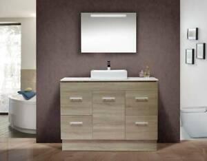 NEW ARRIVAL!!!!!! BG1200C Grey Oak vanity - 120cm wide