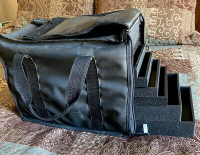 Display Carrying Case 17 Pc 1 2 Trays Inserts Jewelry Travel Salesman Sample