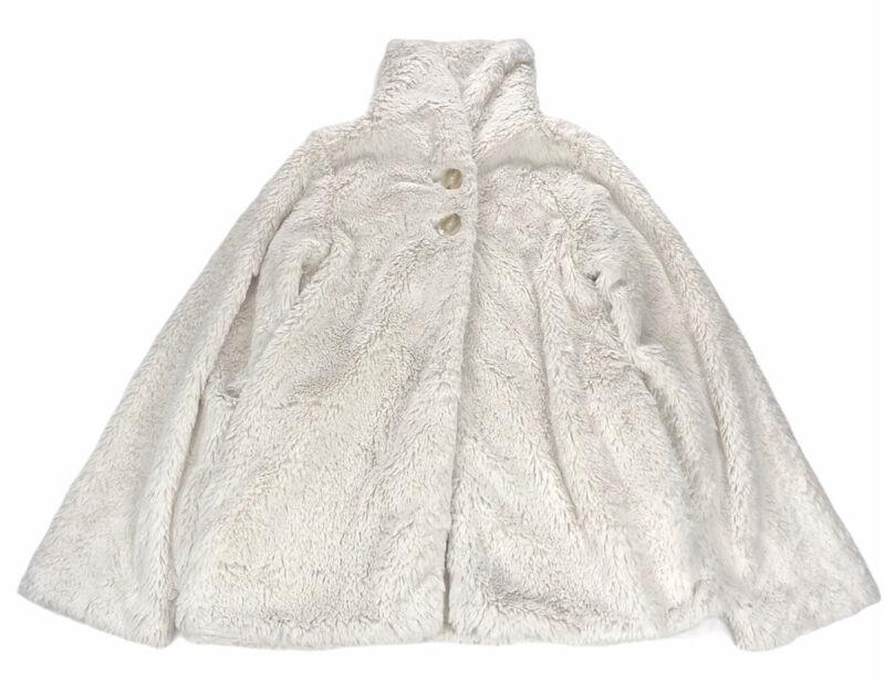 Patagonia Girls XL 14 Pelage Jacket Birch White Eyelash Fluffy Lined Button