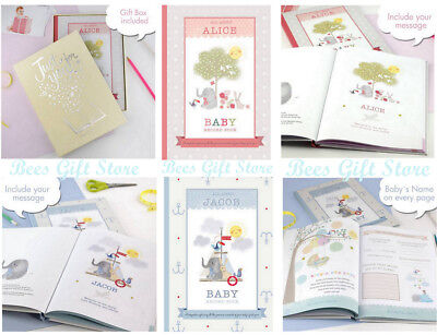 PERSONALISED Baby Record Book JOURNAL For New Born BOY GIRL Shower Gift Ideas - Ideas For Boy Baby Shower