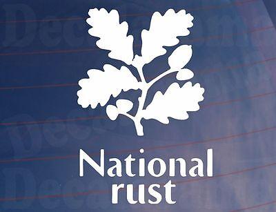 NATIONAL RUST Funny Novelty Car/Van/Window/Bumper Sticker - Ideal for Rat Look