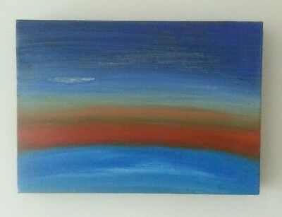 ABSTRACT UNIVERSE  ORIGINAL OIL PAINTING  ON BOX CANVAS  SIZE 35.5 x 25 cm